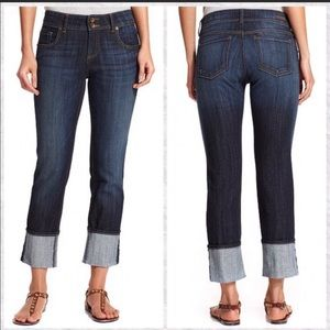 Kut from the Kloth Cameron Cuffed Cropped Jeans